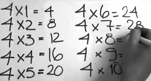 La memoria no es el único método para aprender las tablas de multiplicar