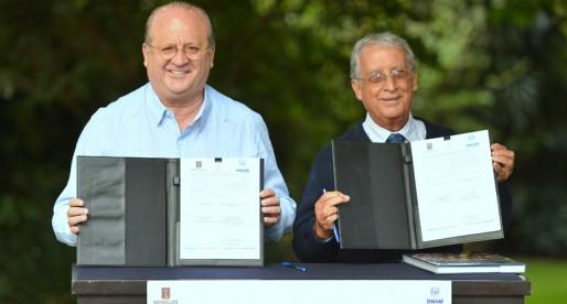 Firma de convenio FUNAM capítulo Morelos