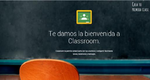 Google classroom opción para docentes