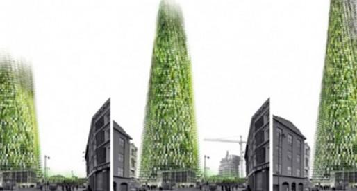Rascacielos orgánico crece a medida que sus ocupantes reciclan