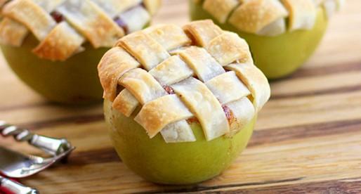 Receta de pie de manzana en una manzana