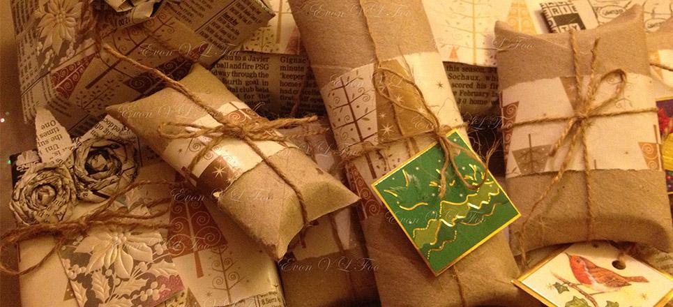 Envolturas de regalo ecológicas
