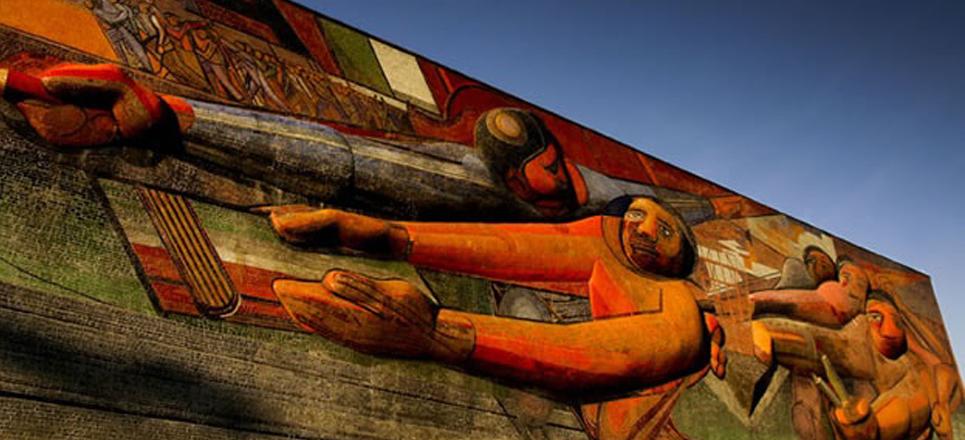 Arte en Ciudad Universitaria: David Alfaro Siqueiros