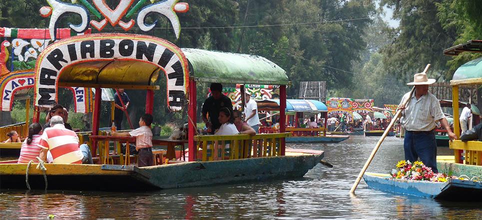 Xochimilco convertido en drenajes