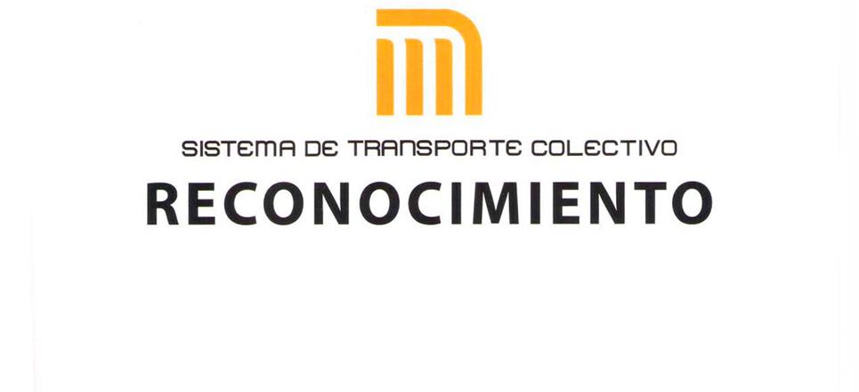 Reconocimiento del STC Metro a Fundación UNAM