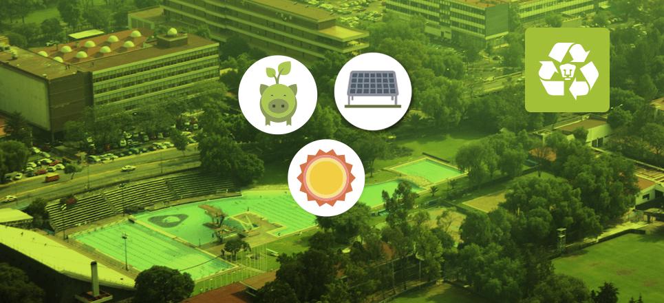 Páneles solares que hace de la UNAM una institución verde
