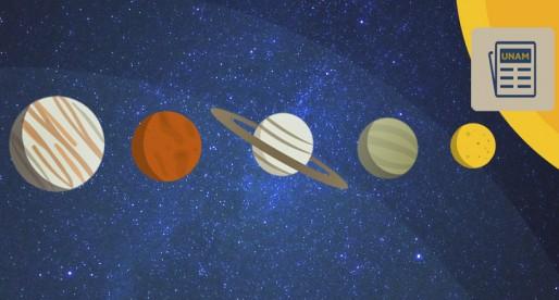 Cinco planetas alineados en el firmamento