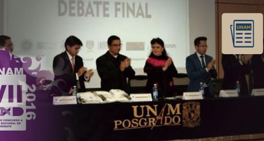 Inscríbete al Concurso Nacional de Debate en la UNAM
