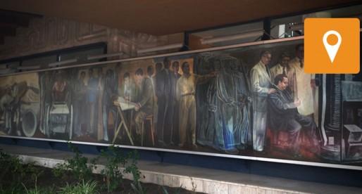 """""""La Ciencia y el Trabajo"""", uno de los grandes murales de CU"""