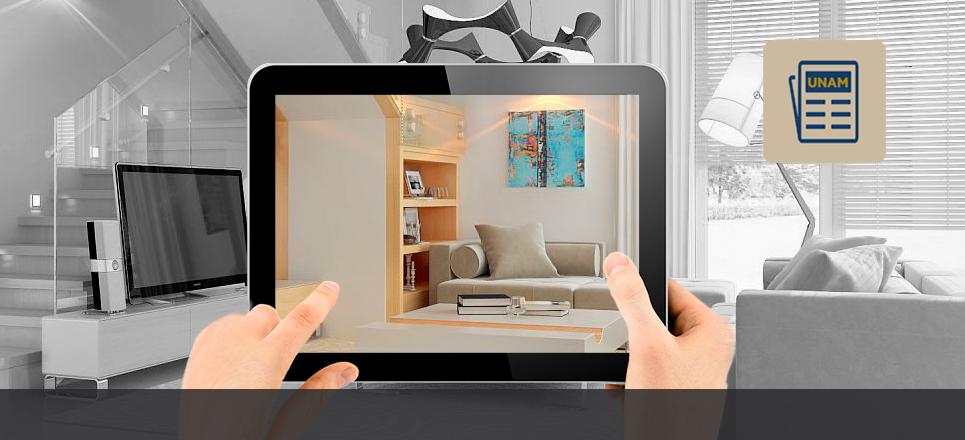 Interior de una casa inteligente