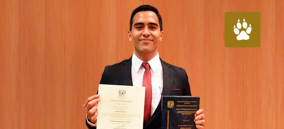 Se titula el primer ingeniero industrial de la FES Cuautitlán