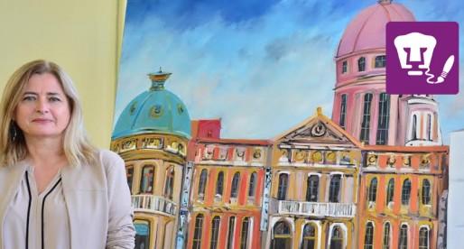 Ima Montoya dona una obra pictórica a Fundación UNAM