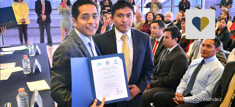 Se entrega Premio Fundación UNAM-CFE de Energía 2015