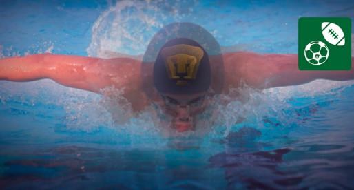 Universitarios demuestran sus habilidades en la natación