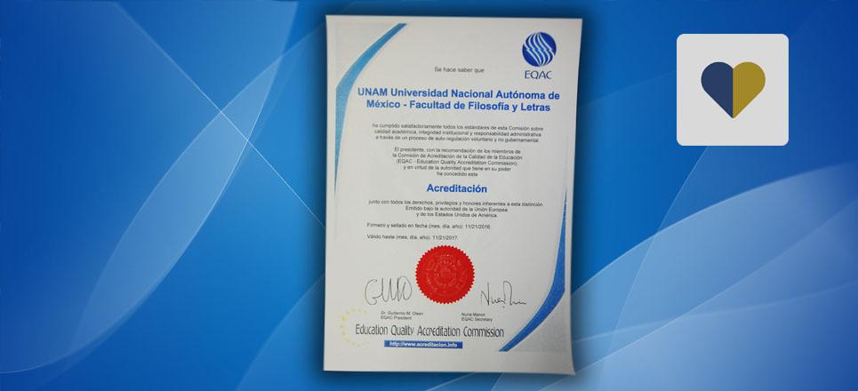 Recibe Facultad de Filosofía y Letras certificación internacional