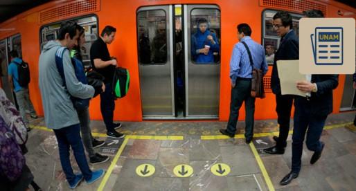 UNAM ordena a los usuarios del metro de la Ciudad de México