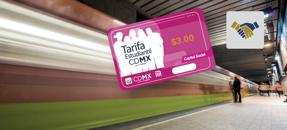 "Recoge tu tarjeta CDMX ""Tarifa Estudiantil"""