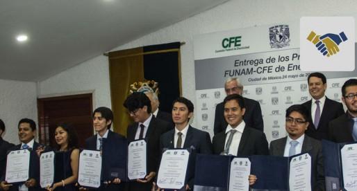 """Fundación UNAM entrega los premios """"FUNAM-CFE de Energía 2016"""""""