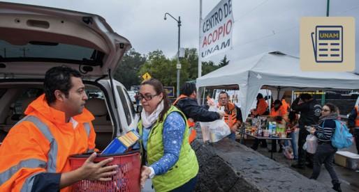 UNAM recauda más de 130 toneladas de ayuda para damnificados
