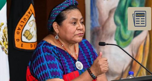 Importantes los liderazgos juveniles para lograr la paz: Rigoberta Menchú