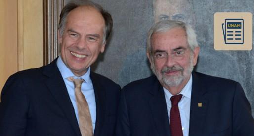 Firman UNAM y Universidad de Holanda convenio académico