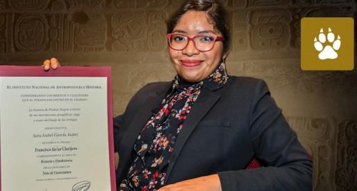 Universitaria gana Premio INAH 2017 Francisco Javier Clavijero