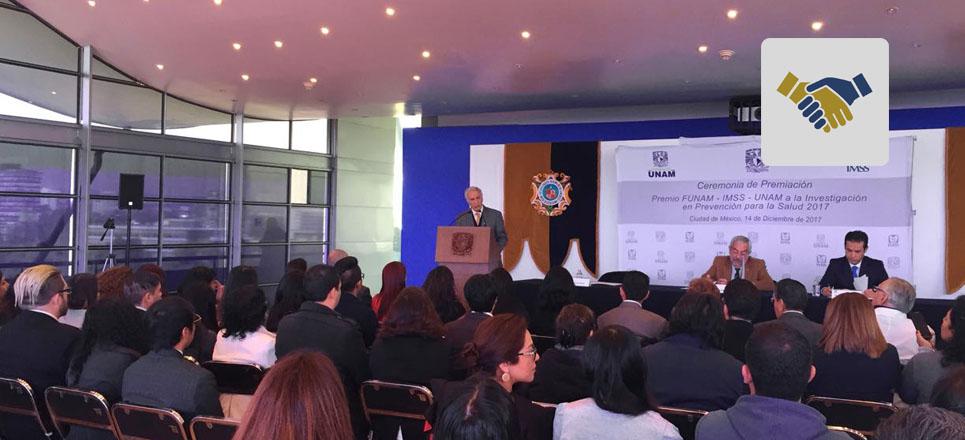 Entregan Premio FUNAM-IMSS-UNAM a la Investigación en Prevención para la Salud 2017