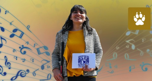 Universitaria invidente se titula con grado de maestra en Música