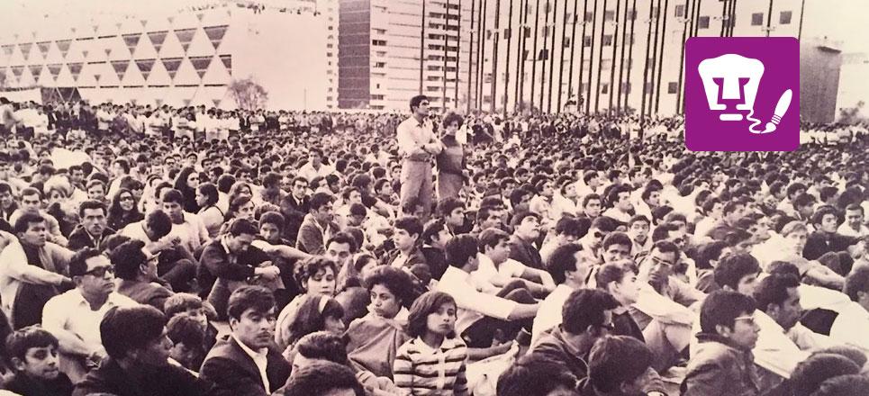 UNAM trabaja en la restauración de El Grito, a 50 años de 1968