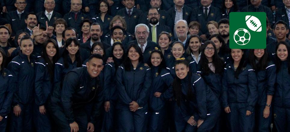 La UNAM abanderó a sus delegaciones