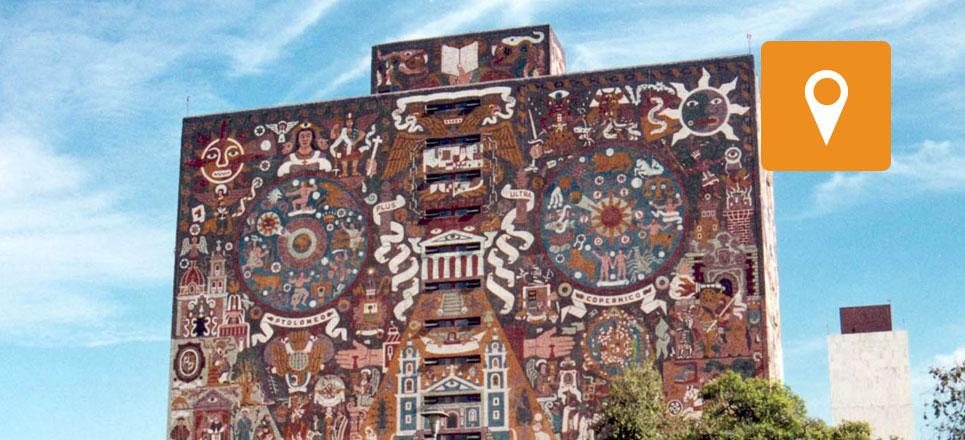 Biblioteca Central, el edificio más fotografiado de México
