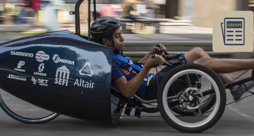 Velomóvil RS, un vehículo cero emisiones creado por estudiantes de la UNAM