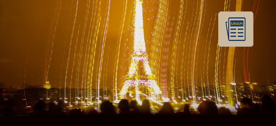 La luz viaja de México a París