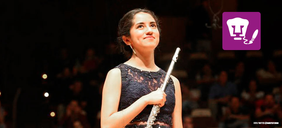 Ana Emilia Castañeda, solista de la OFUNAM a los 20 años