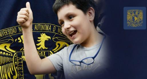 Histórico, niño de 12 años ingresa a la UNAM