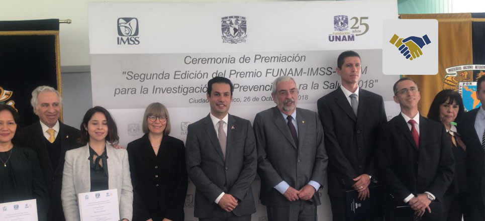 Entregan Premio FUNAM-IMSS-UNAM a la Investigación en Prevención para la Salud