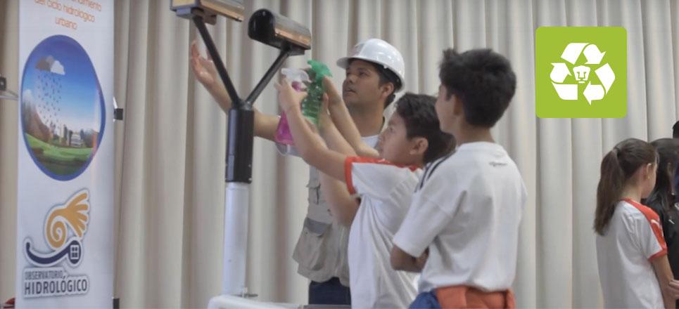 La UNAM enseña a los niños a cuidar el agua, jugando
