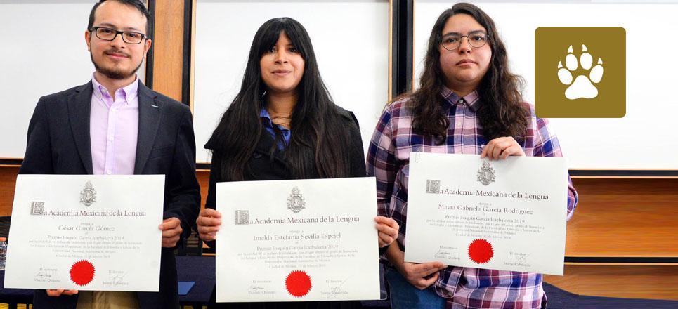 Obtienen universitarios Premios de la Academia Mexicana de la Lengua