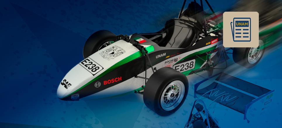 UNAM se posiciona en segundo lugar general en Fórmula SAE México 2019