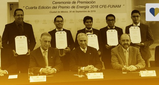 """Entregan galardones de la cuarta edición del """"Premio de Energía 2018 CFE-FUNAM"""""""