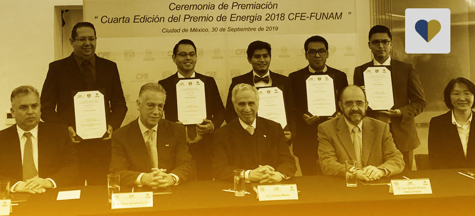 """Entregan galardones de la cuarta edición del «Premio de Energía 2018 CFE-FUNAM"""""""